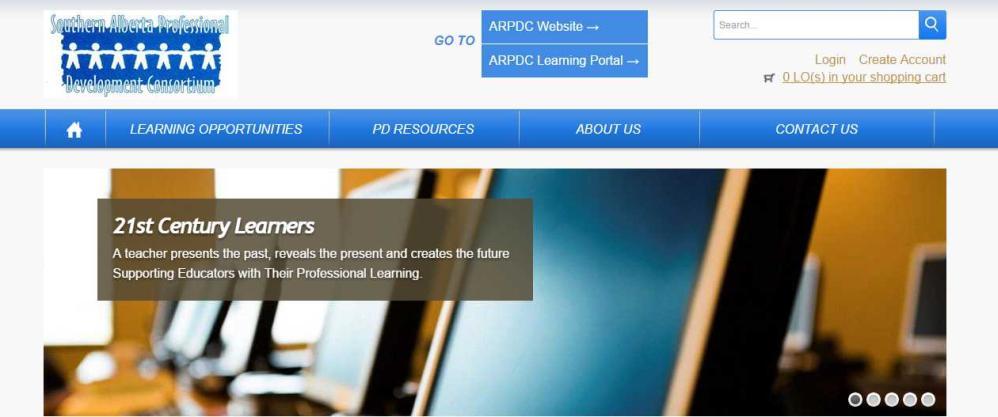 Banner image of ARPDC Joomla Website by Edmonton web design company Chinook Multimedia