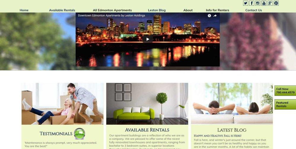 Leston Holdings - Edmonton web design by Chinook Multimedia